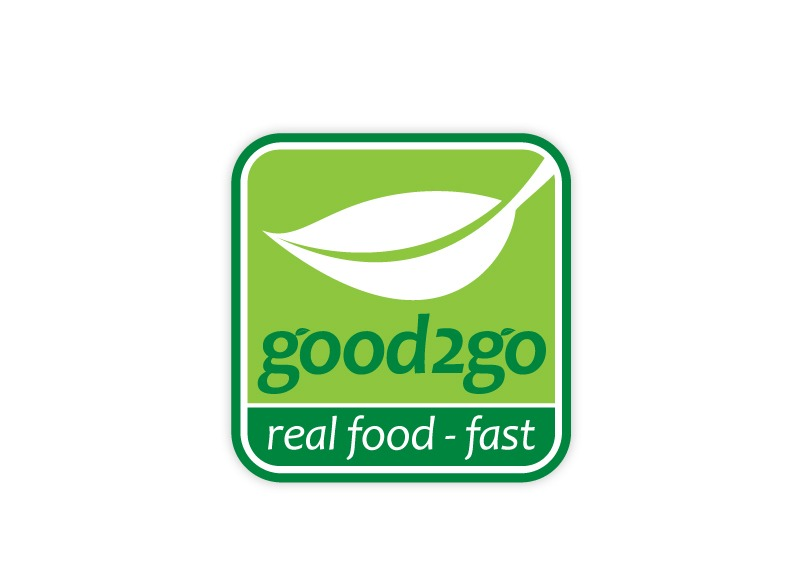 Good 2 go real food logo brand identity by one bright for Cuisine 2 go