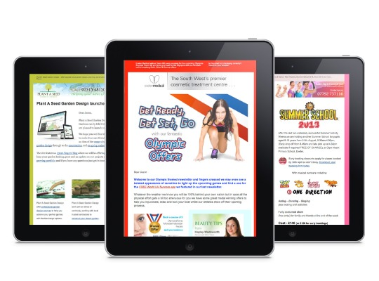 HTML newsletters designed by One Bright Spark. Devon