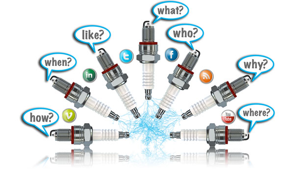 Social media & social networking from One Bright Spark, Exeter, Devon