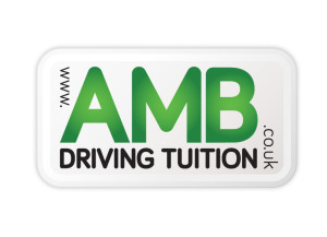 AMB Driving Tuition logo brand Identity by One Bright Spark of Exeter, Devon