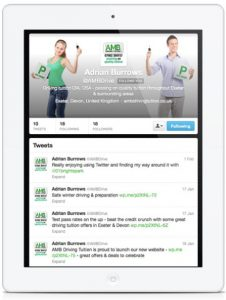 AMB Driving Tuition Twitter Page designed by One Bright Spark