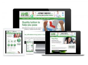 AMD Driving Tuition website, web design & development by Exeter's One Bright Spark