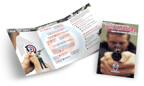 Owning an air weapon flyer graphic design & print by One Bright Spark of Exeter, Devon
