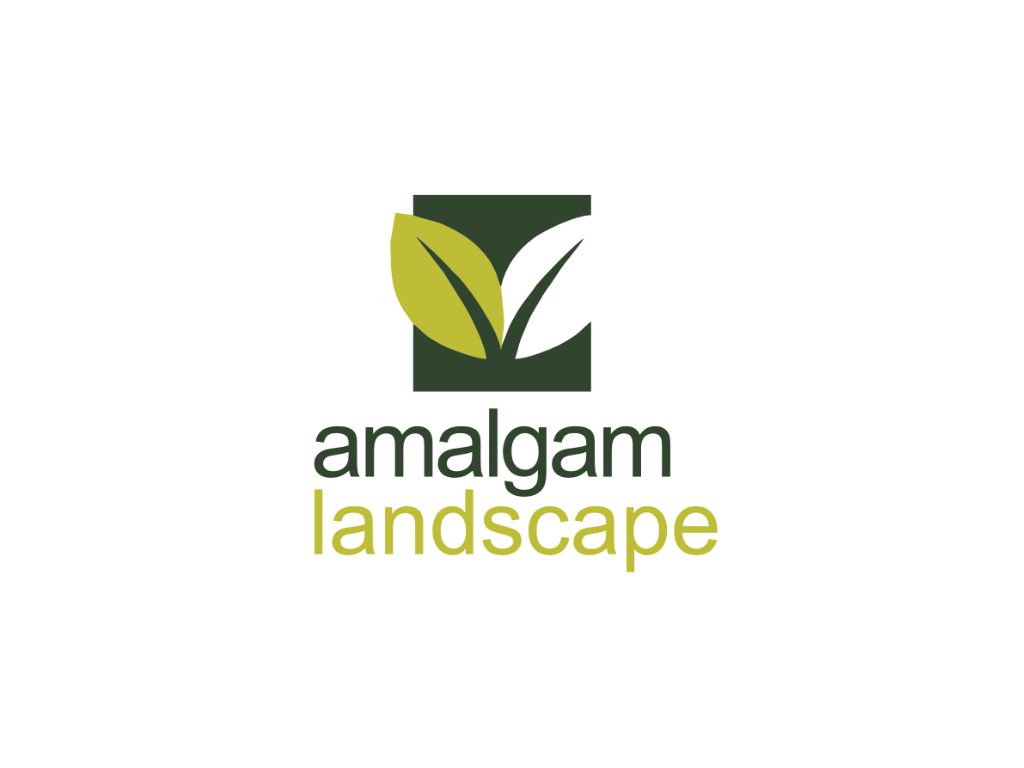 Amalgam Landscape Logo - Client of Exeter website & logo designer One Bright Spark
