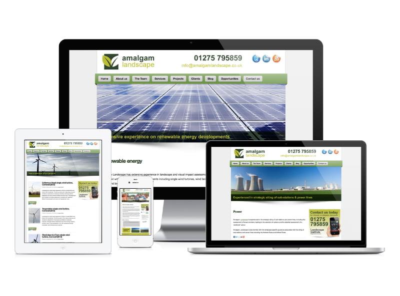 Amalgam Landscape website