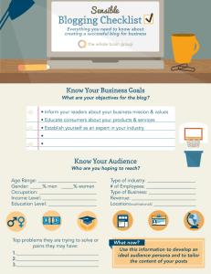 Blogging Checklist 1 from One Bright Spark