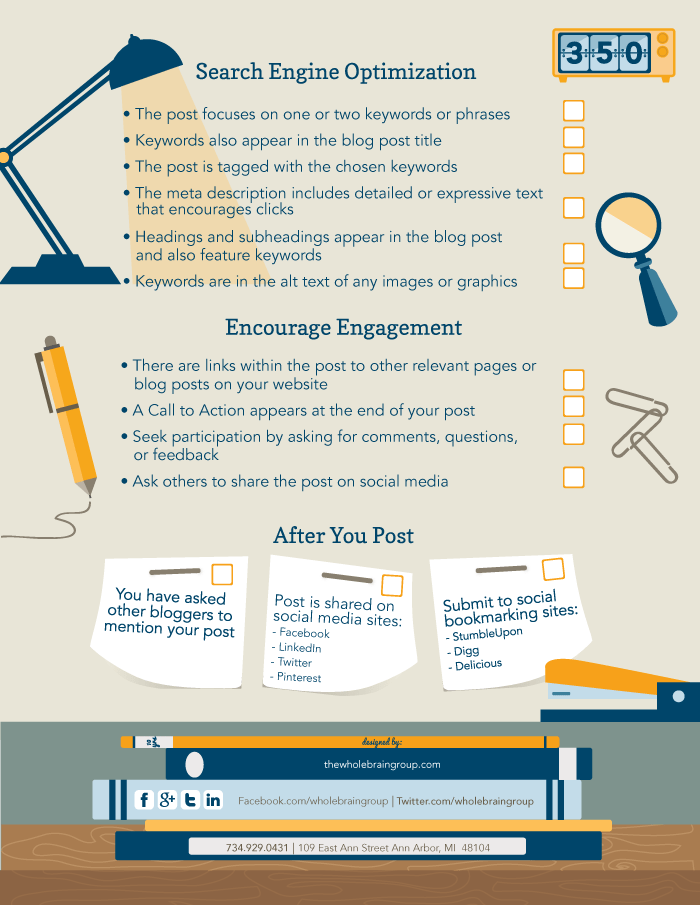 Blogging Checklist 2 from One Bright Spark