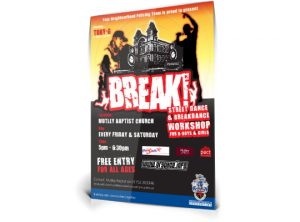 Devon & Cornwall Police BREAK poster graphic design by Exeter based One Bright Spark