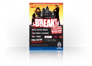 Break dance poster