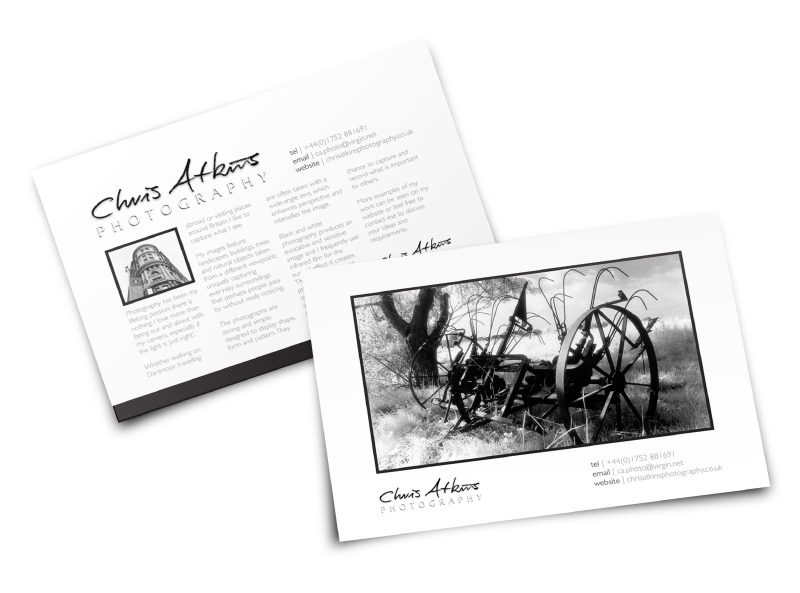 Chris Aktins, Devon Photographer Postcard Graphic Design | One