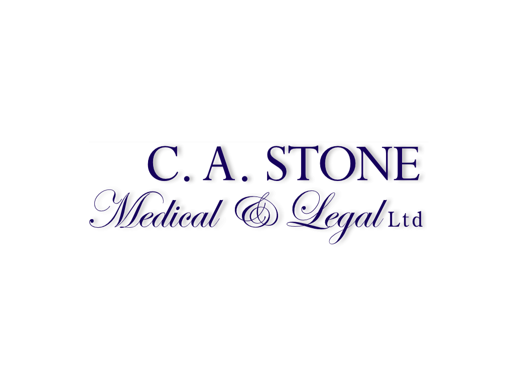 Chris Stone Medical & Legal Logo - Client of Exeter website & logo designer One Bright Spark
