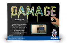 Damage – it's criminal poster