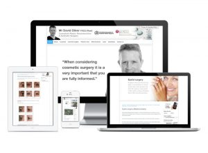 David Oliver Cosmetic Surgeon website, web design & development by Exeter's One Bright Spark