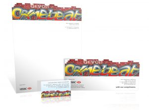 Devon Crimebeat stationery graphic design & print by One Bright Spark of Exeter, Devon