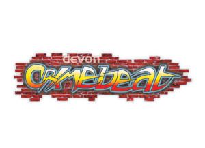 Devon Crimebeat logo brand Identity by One Bright Spark of Exeter, Devon
