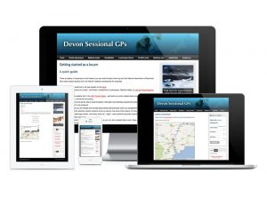 Devon Sessional GPs website, web design & development by Exeter's One Bright Spark