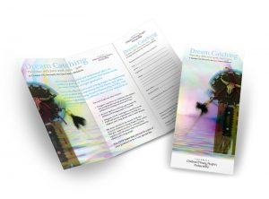 Dream Catching Cornwall flyer graphic design & print by One Bright Spark of Exeter, Devon