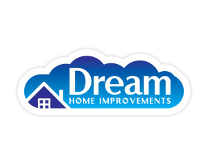 Dream Home Improvements logo brand Identity by One Bright Spark of Exeter, Devon