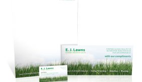 EJ Lawns stationery