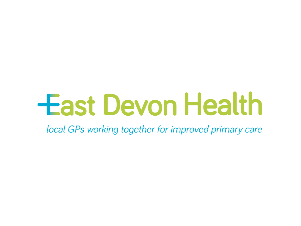 East Devon Health Logo - Client of Exeter website & logo designer One Bright Spark