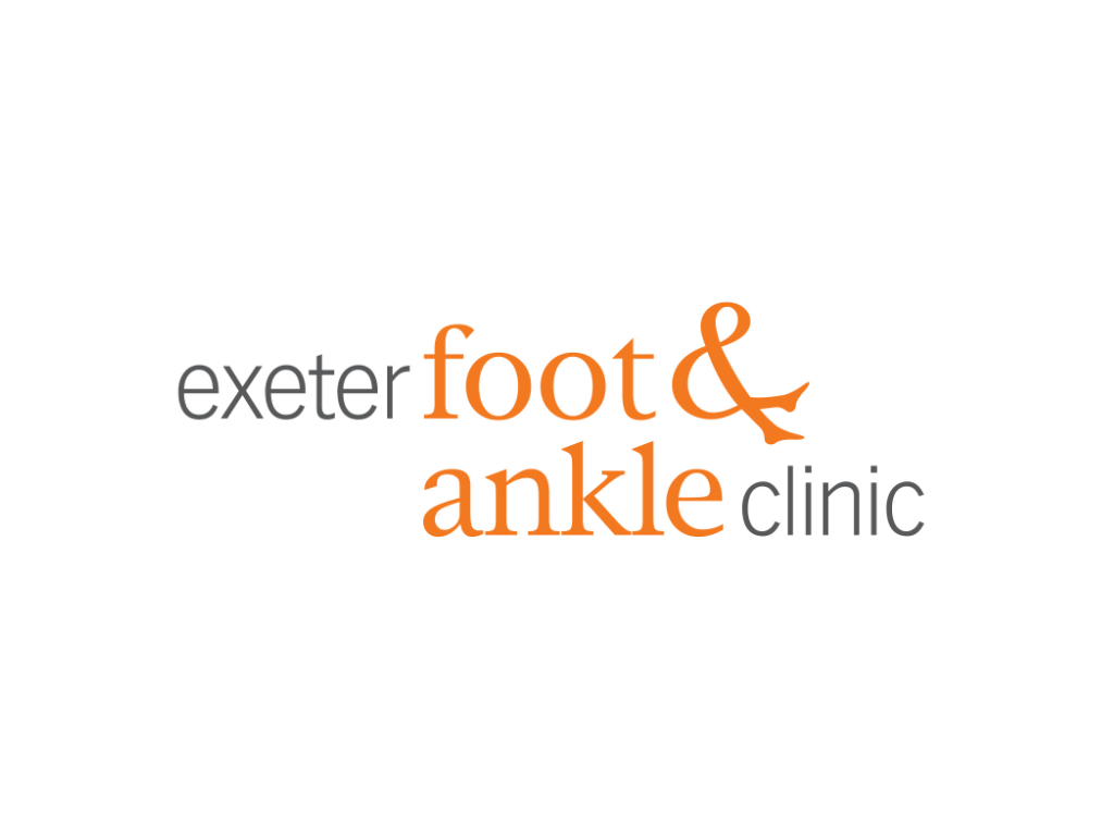 Exeter Foot & Ankle Logo - Client of Exeter website & logo designer One Bright Spark