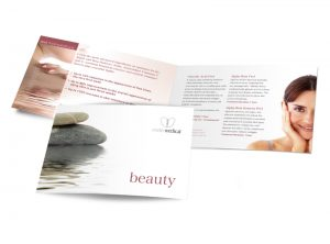Exeter Medical Beauty booklet graphic design & print by One Bright Spark of Exeter, Devon