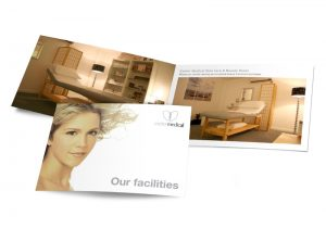 Exeter Medical - Our Facilities booklet graphic design & print by One Bright Spark of Exeter, Devon