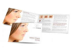 Exeter Medical Mole Check Clinic booklet graphic design & print by One Bright Spark of Exeter, Devon