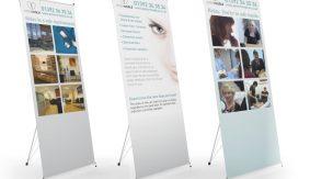 Exeter Medical pop up displays