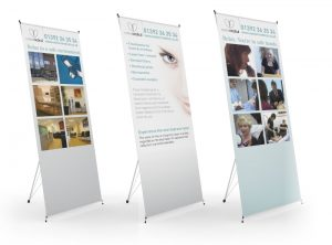 Exeter Medical display pop up banner graphic design & print by One Bright Spark of Exeter, Devon