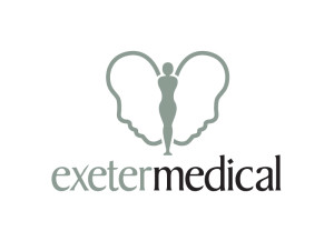 Exeter Medical logo brand Identity by One Bright Spark of Exeter, Devon