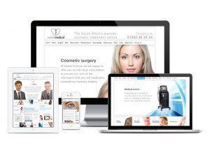 Exeter Medical website, web design & development by Exeter's One Bright Spark