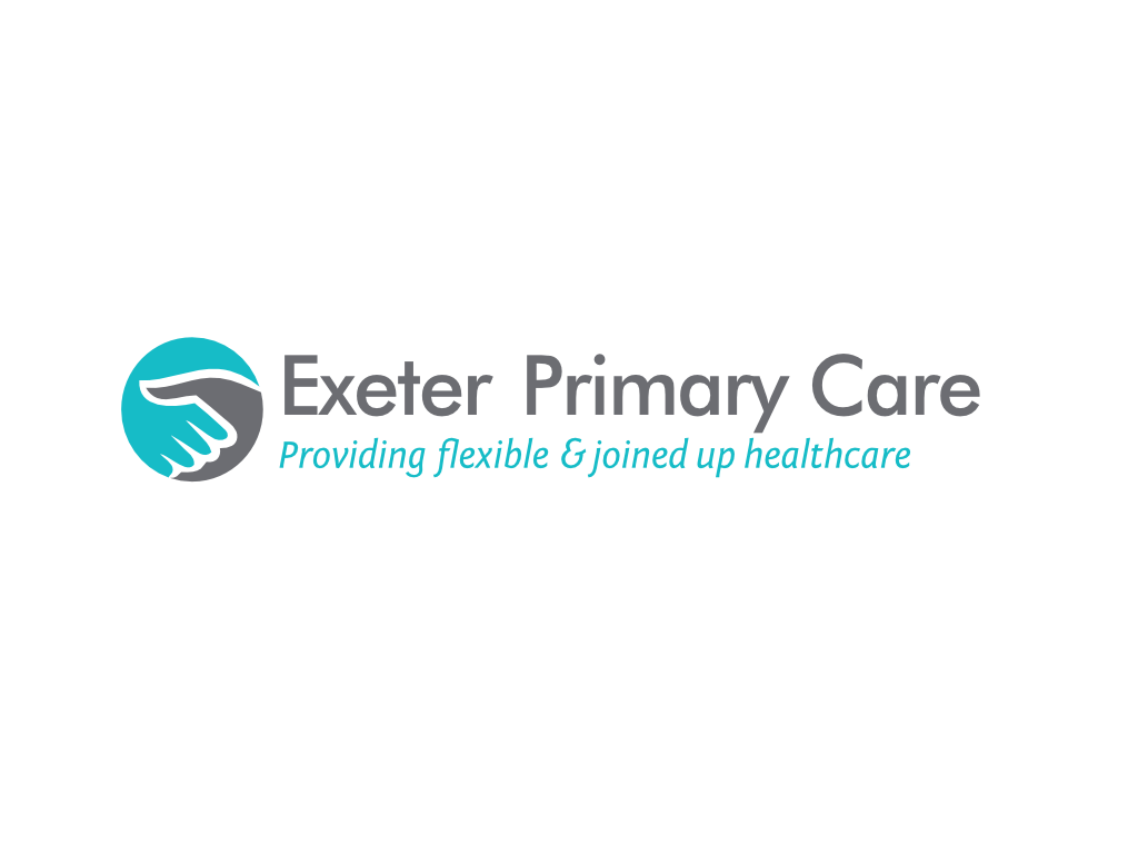Exeter Primary Care Logo - Client of Exeter website & logo designer One Bright Spark