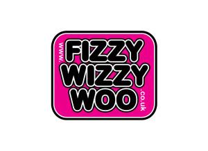Fizzy Wizzy Woo logo brand Identity by One Bright Spark of Exeter, Devon
