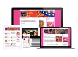 Fizzy Wizzy Woo Exeter best sweet shop website, web design & development by Exeter's One Bright Spark