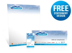 FREE stationery design with branding logo development - One Bright Spark, Exeter