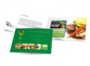 Good 2 Go, real food, fast booklet graphic design & print by One Bright Spark of Exeter, Devon