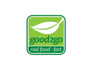 Good 2 Go real food fast logo brand Identity by One Bright Spark of Exeter, Devon