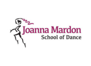 Joanna Mardon School of Dance logo brand Identity by One Bright Spark of Exeter, Devon