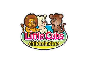 Little Cubs Childminding logo brand Identity by One Bright Spark of Exeter, Devon