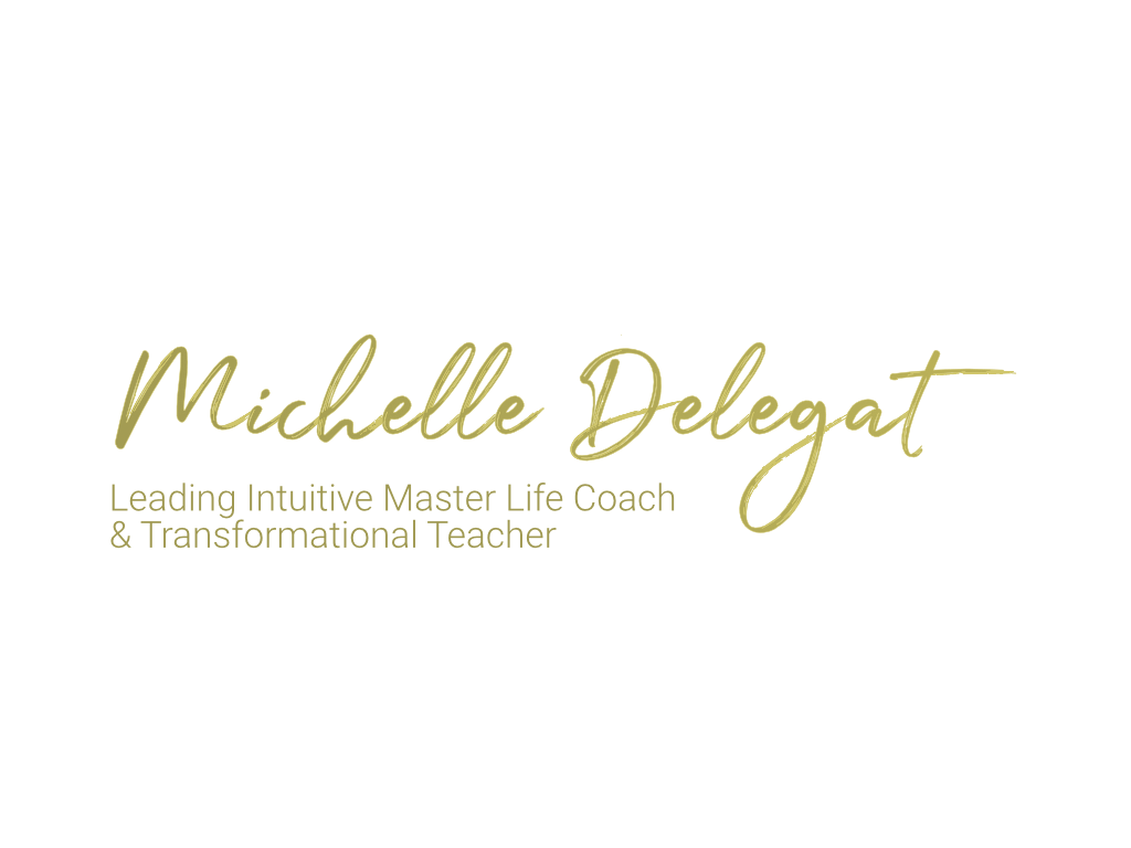 MIchelle Delegat Intuitive Life Coach & Transformational Teacher Logo - Client of Exeter website & logo designer One Bright Spark