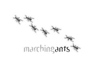 Marching Ants logo brand Identity by One Bright Spark of Exeter, Devon