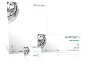 Mark Green Photography stationery graphic design & print by One Bright Spark of Exeter, Devon