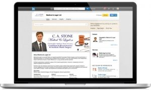 Medical & Legal LinkedIn page design by One Bright Spark