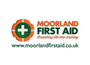 Moorland First Aid logo brand Identity by One Bright Spark of Exeter, Devon