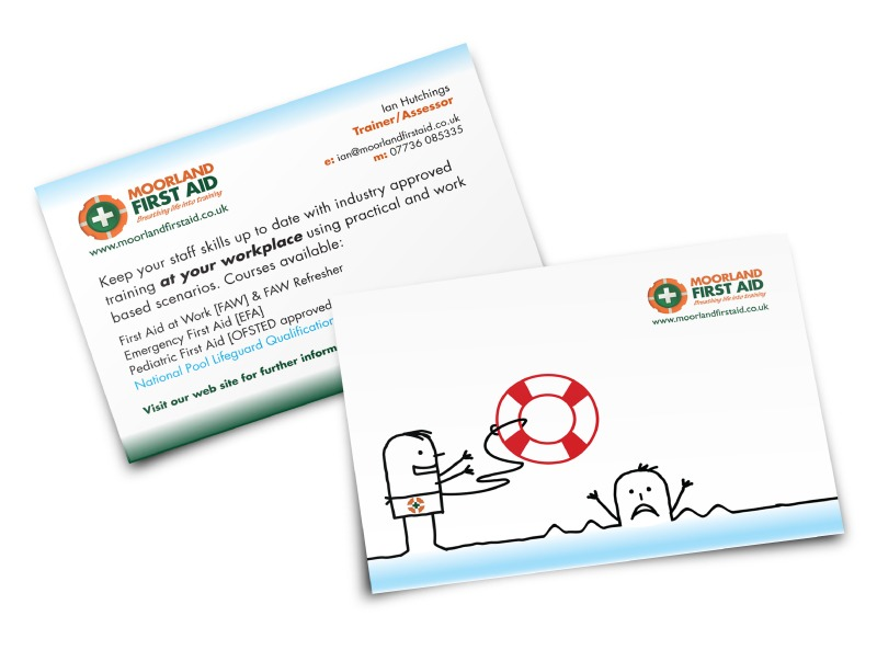 Moorland First Aid postcards
