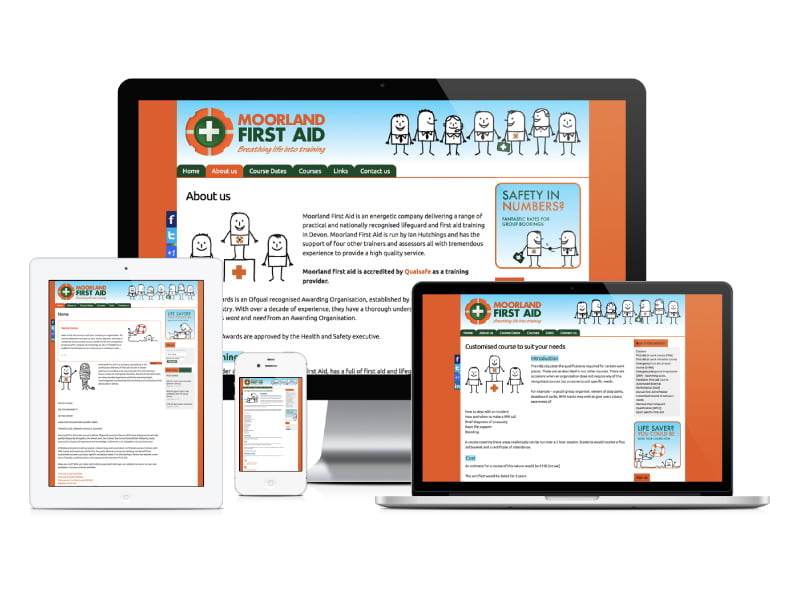 Moorland First Aid website