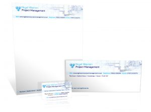 Nigel Warren Project Management stationery graphic design & print by One Bright Spark of Exeter, Devon
