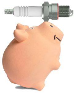 Pig balancing spark plug