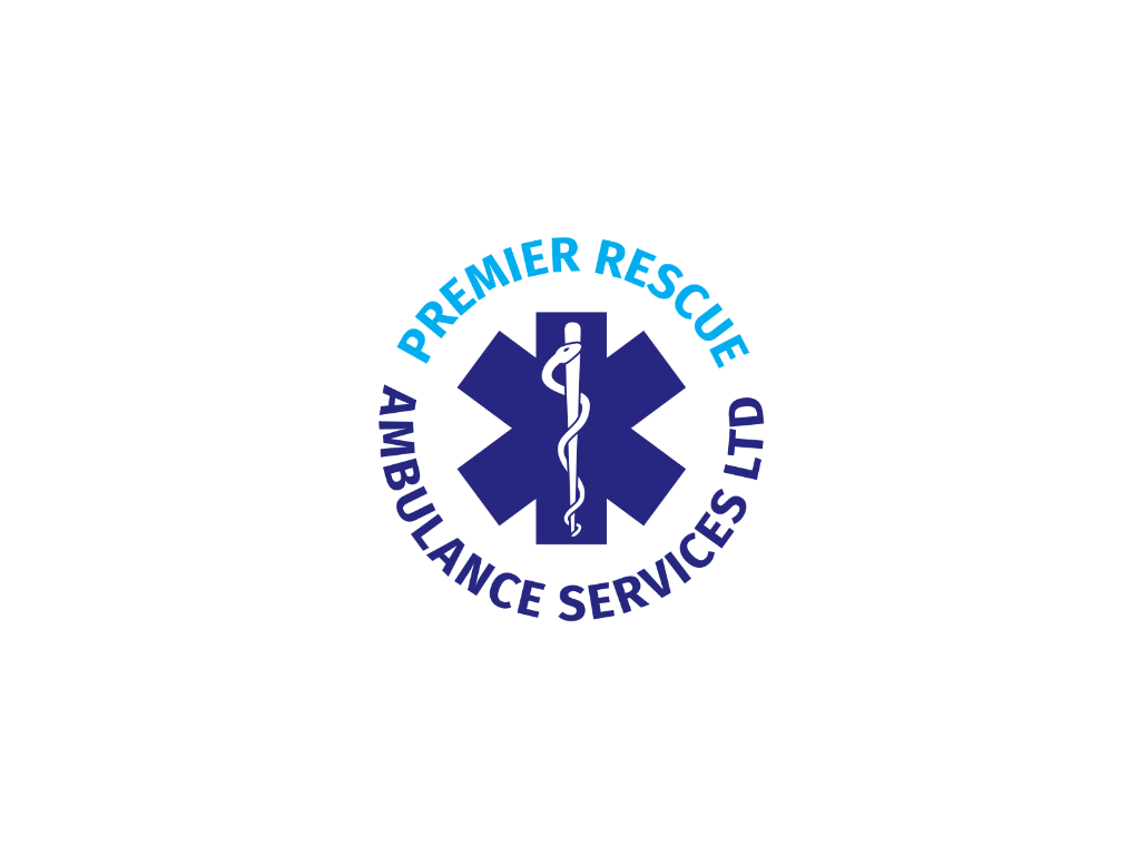 Premier Ambulance Resuce Services Logo - Client of Exeter website & logo designer One Bright Spark